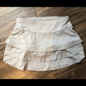 Athleta light gray tennis skirt/skort
